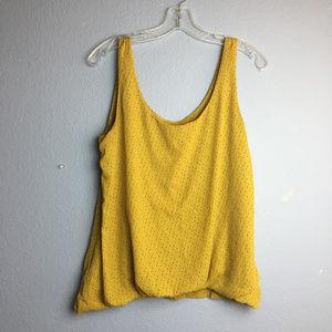 Ann Taylor Loft Yellow Drape Front Top